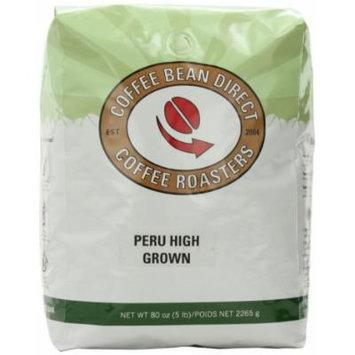 Coffee Bean Direct Peruvian High Grown, Whole Bean Coffee, 5-Pound Bag