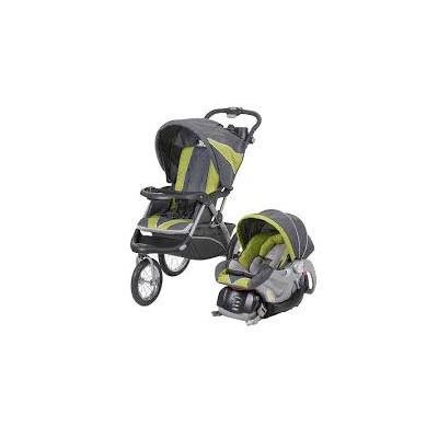 Baby Trend Expedition ELX Travel System Stroller - Spearmint jogging stroller with car seat and base