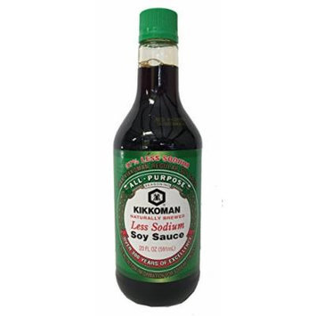Kikkoman Light Soy Sauce, Less Sodium, 20 ounce