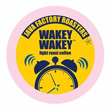 Java Factory Single Cup Coffee for Keurig K Cup Brewers, Wakey Wakey Light Roast, 80 Count
