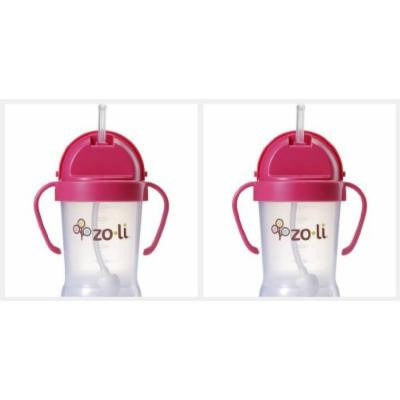 ZoLi BOT 2 Pack Sippy Cup (Pink, Pink)