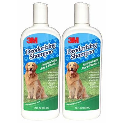 3M Deodorizing Pet Shampoo with Aloe and Vitamin E (12 Ounces) (2 Bottles)