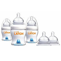 Munchkin Latch Anti-Colic 4 Ounce Bottles with Stage 3 Replacement Nipples