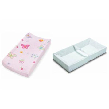 Summer Infant 4 Sided Changing Pad & Plush Pals Changing Pad Cover - Butterfly