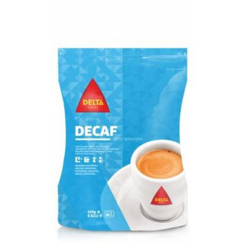 Delta Decaffeinated Roasted Ground Coffee for Espresso Machine or Bag 250g