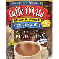 24oz Caffe D'Vita French Vanilla Instant Cappuccino Mix, Sugar Free, Pack of 1