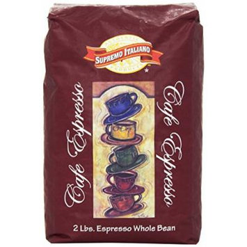 Supremo Italiano Cafe Expresso Whole Bean Coffee 2 Lb (2 Pack)