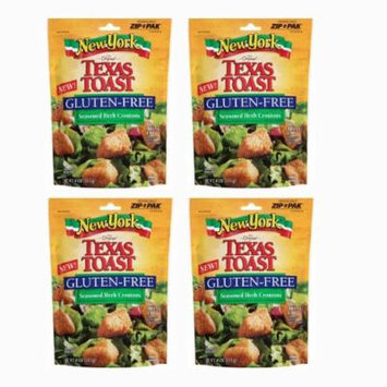New York Brand® Texas Toast Croutons , Gluten Free Croutons Seasoned Herb 4 Oz[4 PACK]