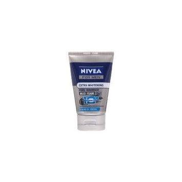 Nivea for Men Extra Whitening Extra Pore Minimiser Mud Foam 10 in 1 Acne Oil Control (100 ML)