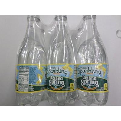 Poland Spring Sparkling Water Lemon 6 Pack