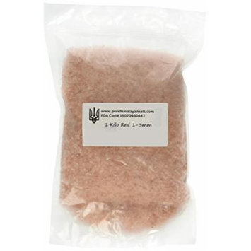 Red Himalayan Crystal Salt 1-3mm Small Coarse FDA Gourmet, Halall, Kosher No Chemicals 1 Kilo or 2.2 Lbs.
