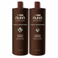 Aura Shampoo & Conditoner, Cherry Almond Bark Revitalizing 33.8oz Value Pack