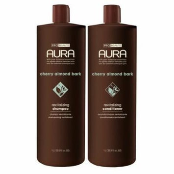 Aura Shampoo & Conditoner, Cherry Almond Bark Revitalizing 33.8oz Value Pack