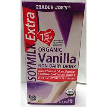 Trader Joe's Organic Soy Milk Extra - Vanilla - In 64 Oz Container
