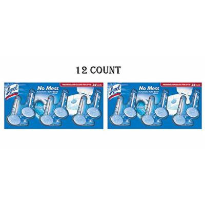 Lysol No Mess Automatic Toilet Bowl Cleaner Value Pack, Ocean Fresh Scent, 12 Count (12 Count)