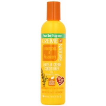 Creme of Nature Lemongrass and Rosemary Leave-in Creme Conditioner for Dehydrated Hair, 8.45 Ounce