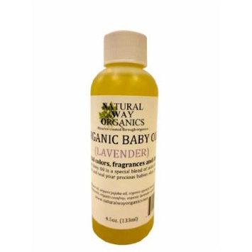 Organic Baby Oil 4.5 oz. (132ml)