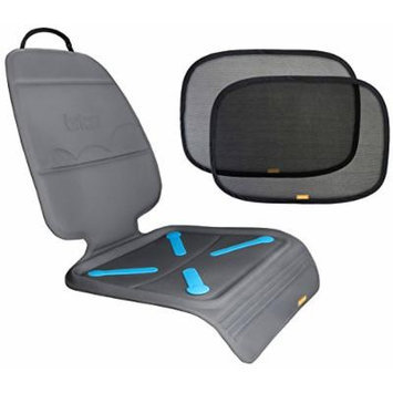 Brica Seat Guardian Car Seat Mat with Cling Window Shades