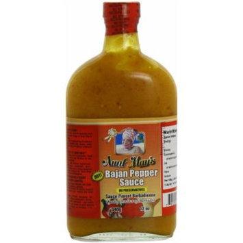 Aunt May's Hot Bajan Pepper Sauce 12 Oz