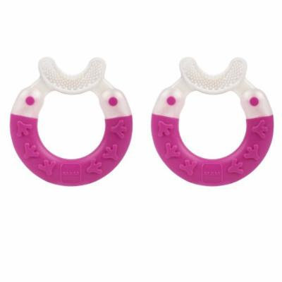 MAM Bite & Brush Teether, 2 Pack - Pink