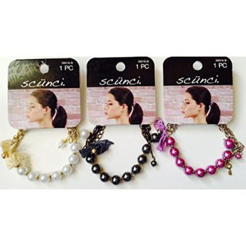 Pack of 3- Scunci 2 in 1 Ponytail + Bracelet