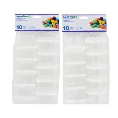 Small Storage Containers 10 X 2 packs = 20 Total!