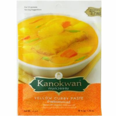 Yellow Curry Paste (Kaeng Ka-ree)Thai Authentic Herbal Food Net Wt 50 G (1.76 Oz.) Kanokwan Brand X 5 Bags