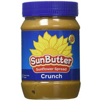 SunButter Natural Crunch Sunflower Seed Spread, 16-Ounce Plastic Jar