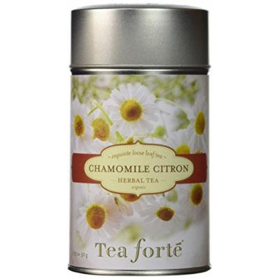 Tea Forte CHAMOMILE CITRON Loose Leaf Organic Herbal Tea 1.75 Ounce Tea Tin