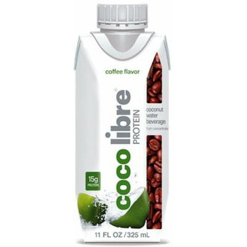 Coco Libre Protein Coconut Water with Real Coffee, 11 Ounce (Pack of 12)