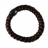Smoothies Woven Ribbon Pony Elastic Brown Pr. 01793