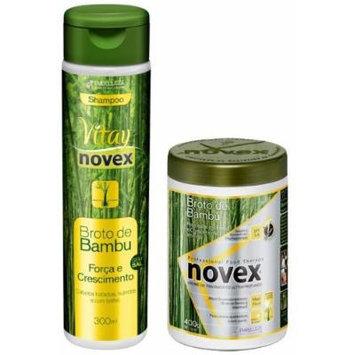 Novex Bamboo Double Set (Shampoo and 400ml Hair Food Creme) Plus 1 Free EYE Pencil