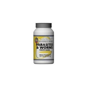 Parasites & Worms - All Natural Remedy to Cleanse Parasites & Worms - 100 Capsules Important note: Three (3) Bottles recommended for full benefit.