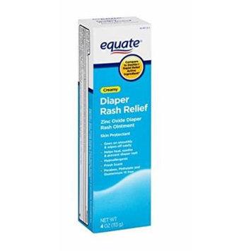 Equate Creamy Diaper Rash Relief Zinc Oxide Ointment, 4 oz (W6270)