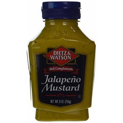 Dietz & Watson, Deli Compliments, Jalapeño Mustard, 9oz Bottle (Pack of 2)