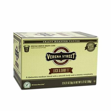 Verena Street Coffee Lock & Dam 11 medium roast coffee, Single Cup Capsule (36 Brew Cups), Rainforest Alliance Certified Single Serve Coffees, Fresh Craft Roasted Specialty Coffee
