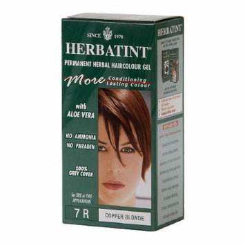 Herbatint Permanent Herbal Haircolor Gel, 7r-Copper Blonde 4.5 oz (135 ml)