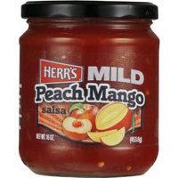 Herr's Salsa Peach Mango Mild - (Pack of TWO Jars)