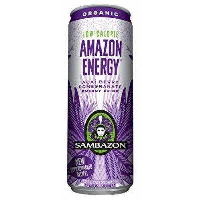 Sambazon Amazon Energy Drink, Low-Calorie Acai Berry, 12 Ounce (Pack of 24)