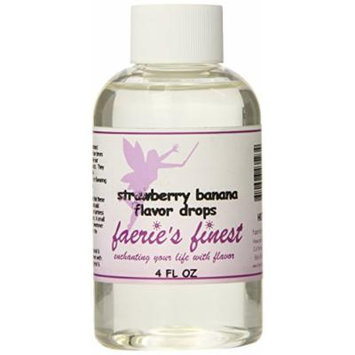 Faeries Finest Flavor Drops, Strawberry Banana, 4.0 Ounce