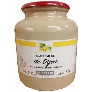 Beaufor Moutarde de Dijon Extra Strong Dijon Mustard 500 Gram Crock