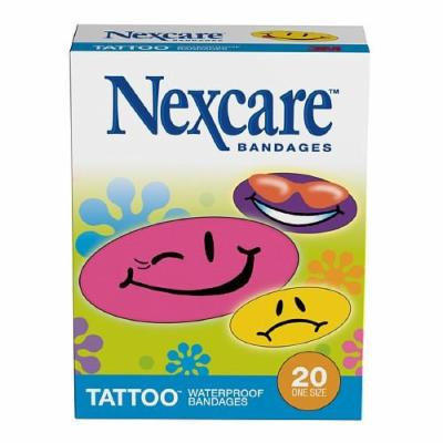 Nexcare Waterproof Tattoo Bandages 20 ea Pack of 12