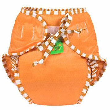 Kushies Reusable Swim Diaper (Small, Orange)