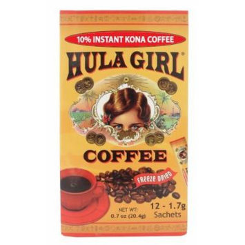 10% Hula Girl Kona Coffee Sachet (1 Box of 12) 1.7 grams each sahcet