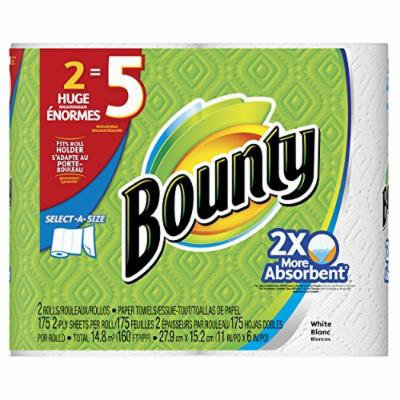 Bounty Select-A-Size Paper Towels, White, Huge Rolls-2 ct