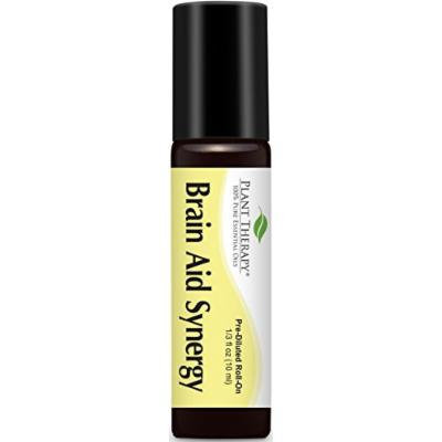 Brain-Aid Synergy Pre-Diluted Essential Oil Roll-On 10 ml (1/3 fl oz). Ready to use!