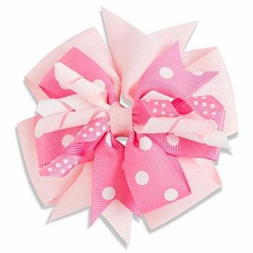 Light Pink & Dark Pink Childs Hair Clip Bow