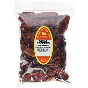 Marshalls Creek Spices Family Size Refill Chili Peppers Whole, 4 Ounces