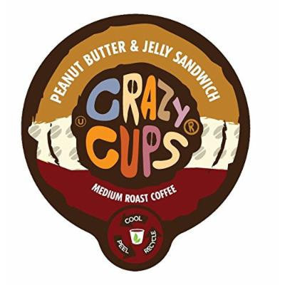 Crazy Cups Peanut Butter and Jelly Flavored Coffee Single Serve Cups (88 Count)