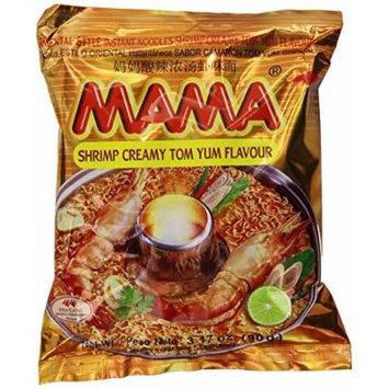 Mama Instant Noodle, Creamy Tom Vum Spicy Flavor, 3.17 Ounce (Pack of 20)